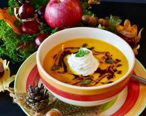 Recette Velouté de patates douces, butternut et carottes, saveurs de coco