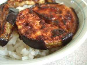 Recette aubergines caramélisées