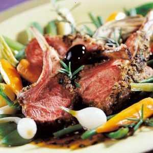 Recette Carré d'agneau en croûte d'olives