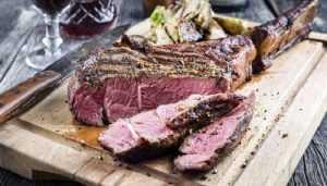 Recette Côte de taureau et légumes à la sauge