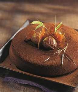 Recette Fondant aux 2 chocolats et crème de marron