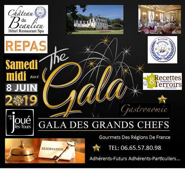 Gala des grands chefs le 8 juin 2019