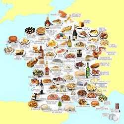 Carte des recettes des terroirs de France
