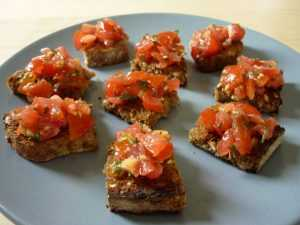 Recette Tartine à l'huile d'olive au tartare de tomate