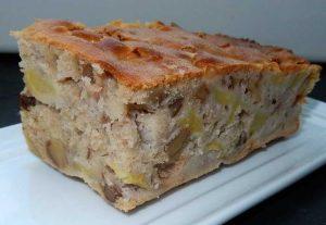 Recette cake aux pommes et aux noix