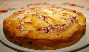 Recette clafoutis pommes et raisins
