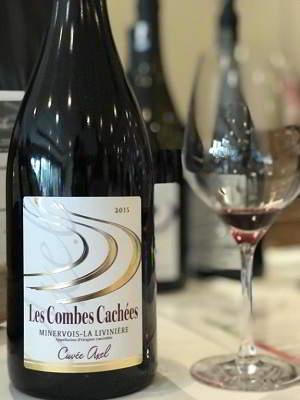 Les Combes Cachées, Minervois-la Livinière Cuvée Axel 2015, vin d'Occitanie