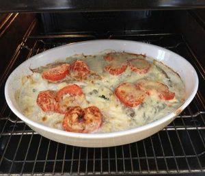 Recette de filet de lieu à la tomate et aux champignons