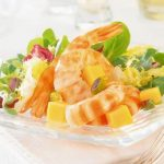 Recette salade de crevettes mangue et papaye
