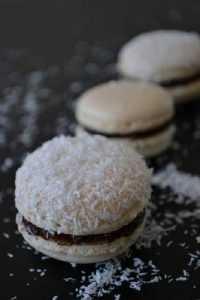 Recette Macarons chocolat, noix de coco