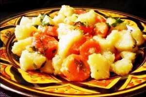 Recette Salade tunisienne carottes-pommes de terre