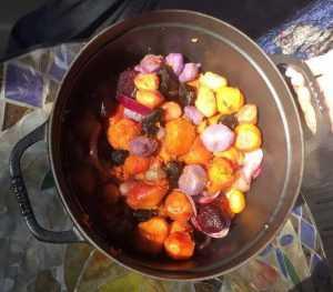 Recette légumes anciens à l'ail noir en cocotte