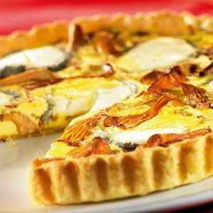 Recette Tarte aux girolles et au fromage de chèvre