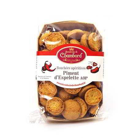 Biscuiterie de Chambord, bouchées apéritives au piment d Espelette