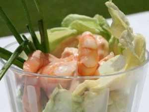 Recette Coupes de crevettes sauce cocktail