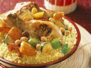 Recette Couscous poulet, légumes