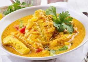 Recette Curry de colin à l'indienne
