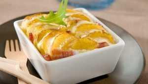 Recette Flan de pommes de terre et lardons