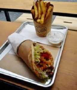 Recette Sandwich grec ( souvlaki )