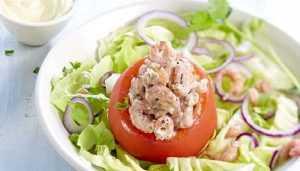 Recette tomate crevettes et mayonnaise