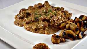 Rognons de veau aux champignons sauce moutarde