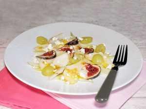 Salade figue, raisins et poire