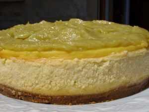 Gâteau à la rhubarbe et aux petits beurre sans cuisson