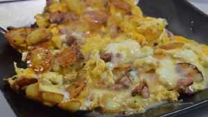 Recette Omelette à la cancoillotte à l'ail noir