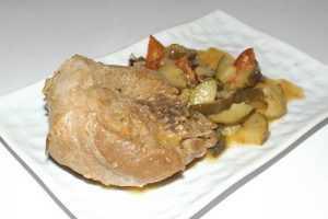 Recette Osso bucco de porc aux courgettes