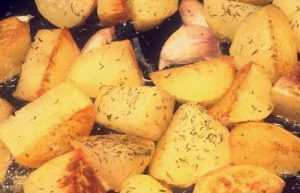 Recette Pommes de terre au romarin et à l'ail