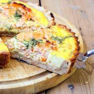 Recette Quiche saumon-crevettes