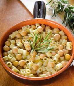 Recette Pâtes et pois chiches à l'italienne