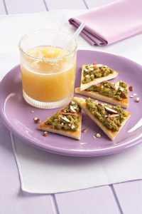 Recette Tartines d'aubergines aux amandes