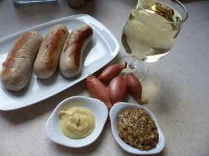 Recette Boudin blanc à la moutarde et aux échalotes