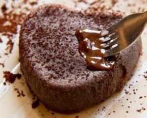 Recette Gâteau au chocolat, beurre salé au micro-ondes
