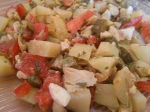 Recette Salade tiède d'artichauts