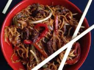 Recette Sauté de boeuf aux nouilles (asiatique)