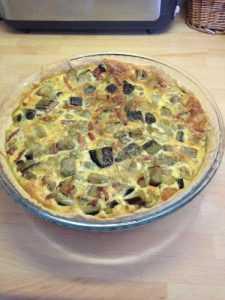 Recette Tarte à l'aubergine et au jambon cru