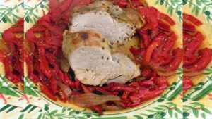 Recette Filet mignon avec sa compotée de poivrons, aux épices et au miel