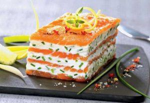 Recette Mille-Feuille de saumon fumé au mascarpone citronné