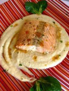 Recette Pavé de saumon et sa p'tite sauce aux endives ultra-simple!