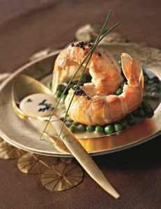 Recette Langoustines au beurre de caviar vif Argent de Pierre Marchesseau