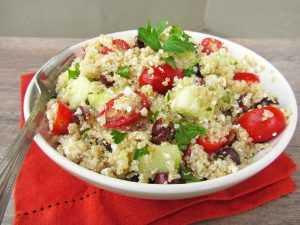 Recette Salade de Quinoa à l'Esturgeon fumé