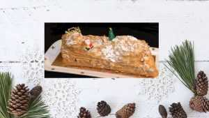 Recette Bûche de Noël au café et au praliné