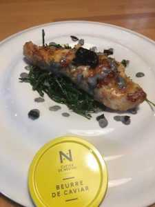 Recette Esturgeon aux salicornes et beurre de caviar