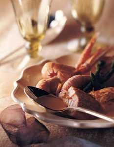 Recette Fricassée de volaille aux langoustines et asperges vertes