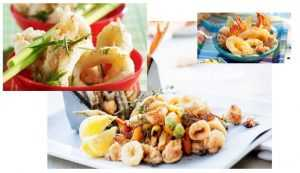 Fritto-misto d'asperges, Supions et Gambas