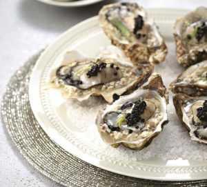 Recette Huîtres en gelée terre-mer au Caviar de Neuvic