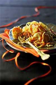 Recette spaghetti de langouste à l'ail noir