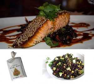 Recette Saumon en Croûte de sésame noir au Black Rice
